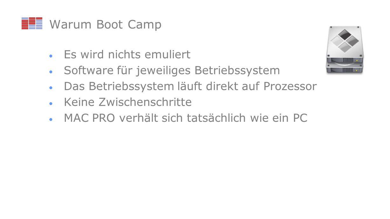 Warum Boot Camp Es wird nichts emuliert