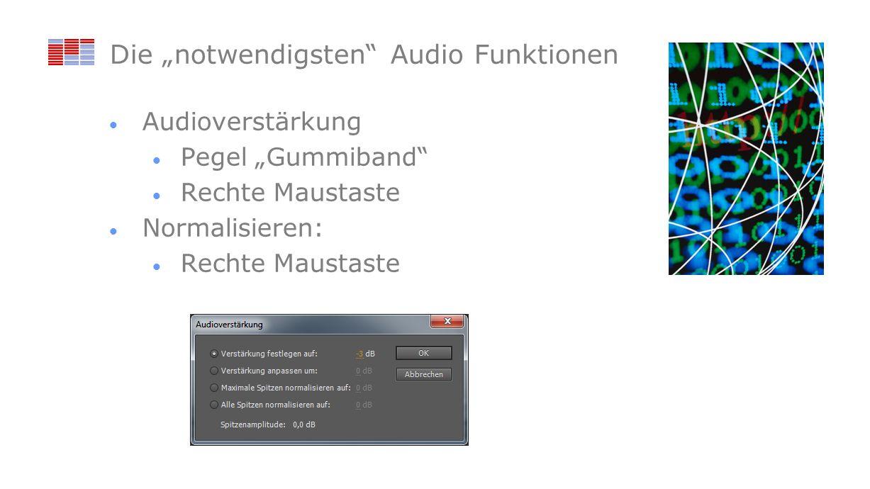 """Die """"notwendigsten Audio Funktionen"""