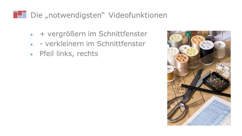 """Die """"notwendigsten Videofunktionen"""
