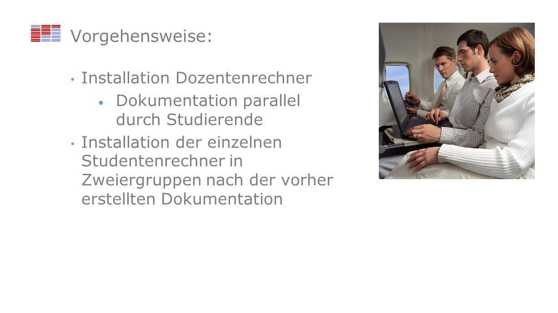 Vorgehensweise: Installation Dozentenrechner