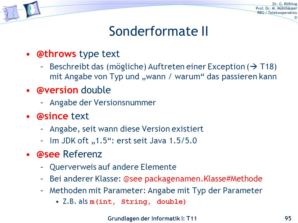 Sonderformate type  text