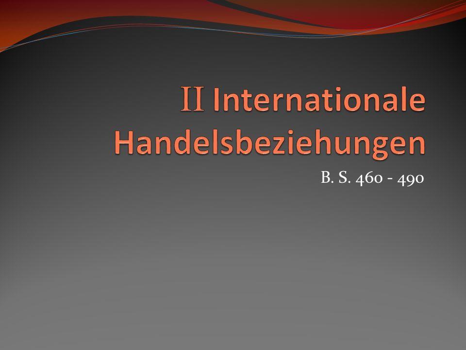 II Internationale Handelsbeziehungen