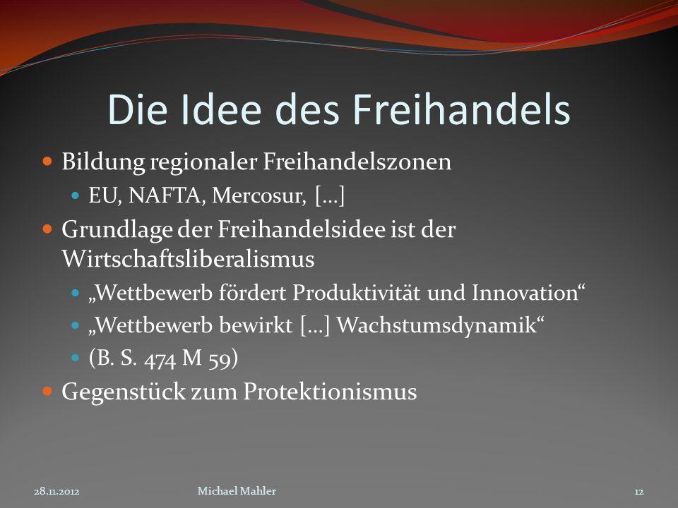 Die Idee des Freihandels