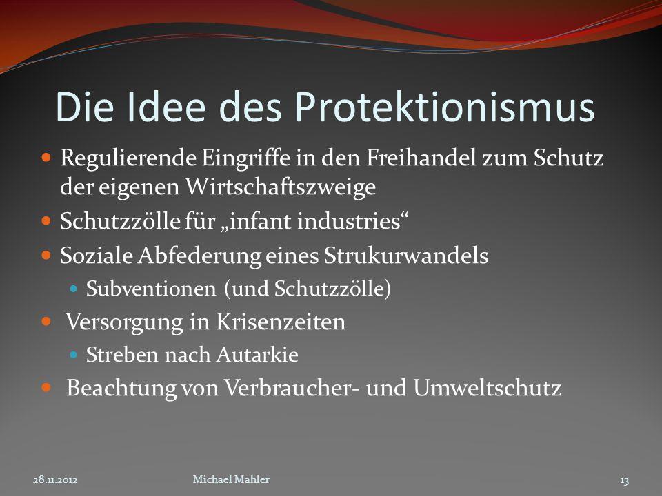 Die Idee des Protektionismus