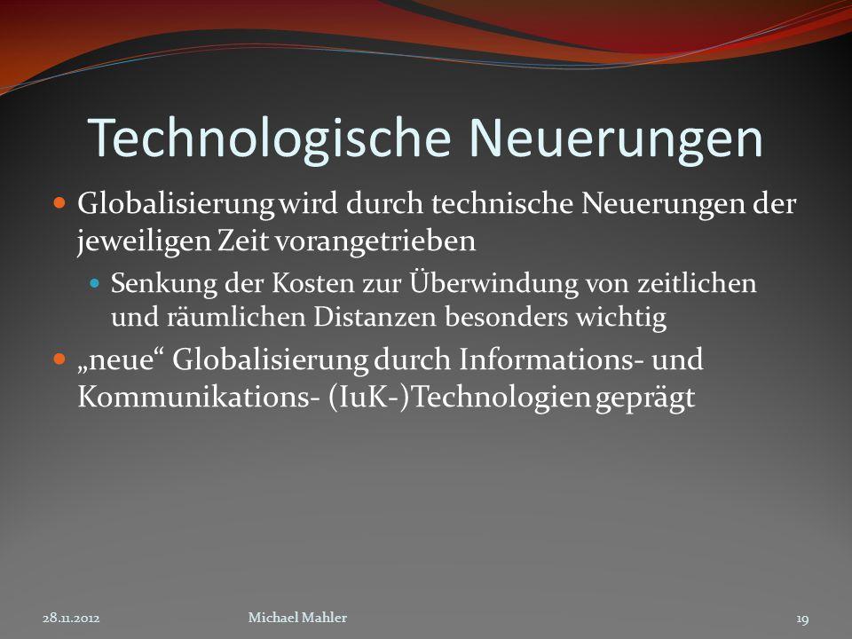 Technologische Neuerungen