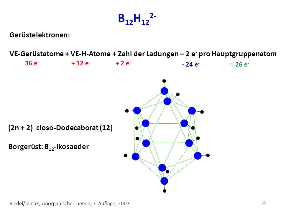 B12H122- Gerüstelektronen: