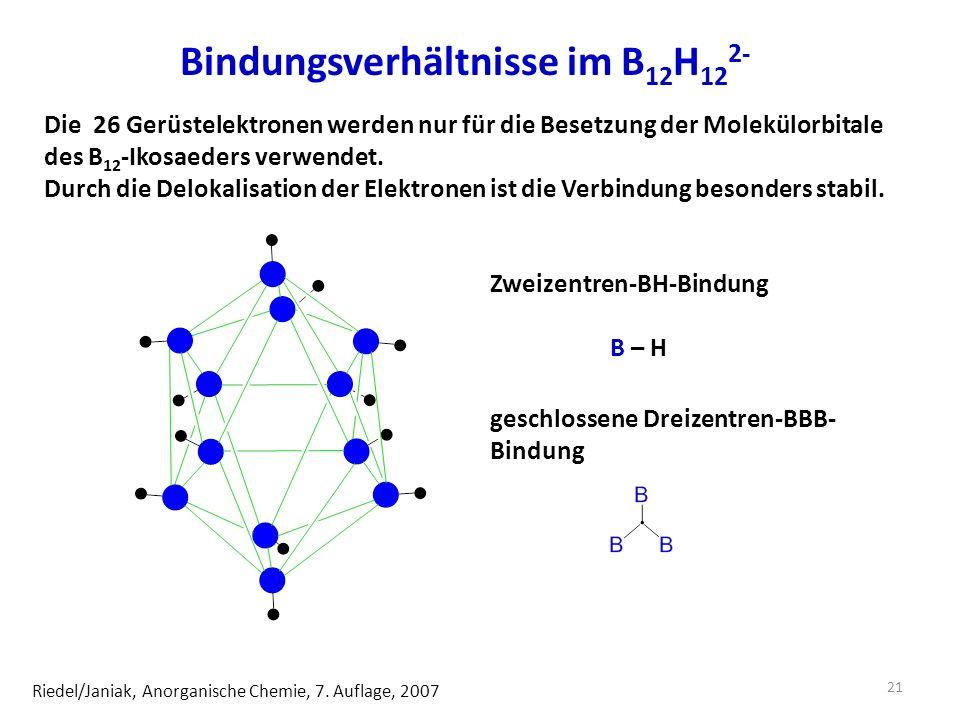 Bindungsverhältnisse im B12H122-