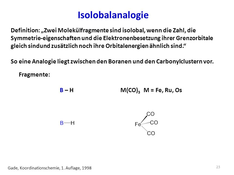 Isolobalanalogie