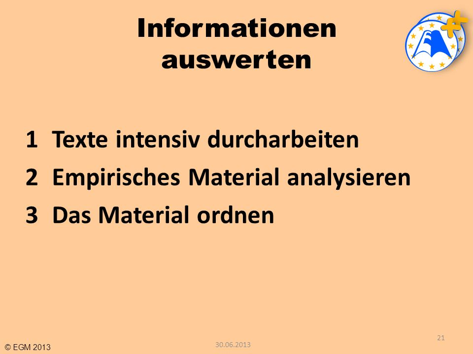 Informationen auswerten