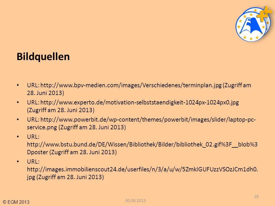 Bildquellen URL: http://www.bpv-medien.com/images/Verschiedenes/terminplan.jpg (Zugriff am 28. Juni 2013)
