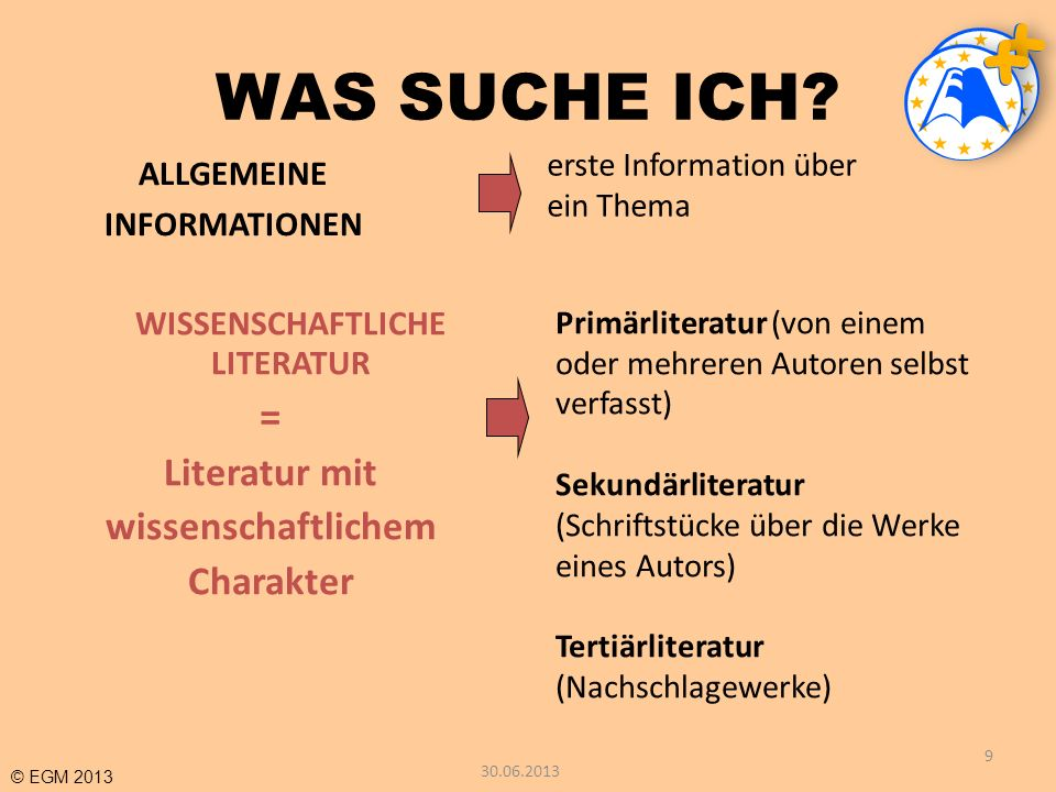 WISSENSCHAFTLICHE LITERATUR