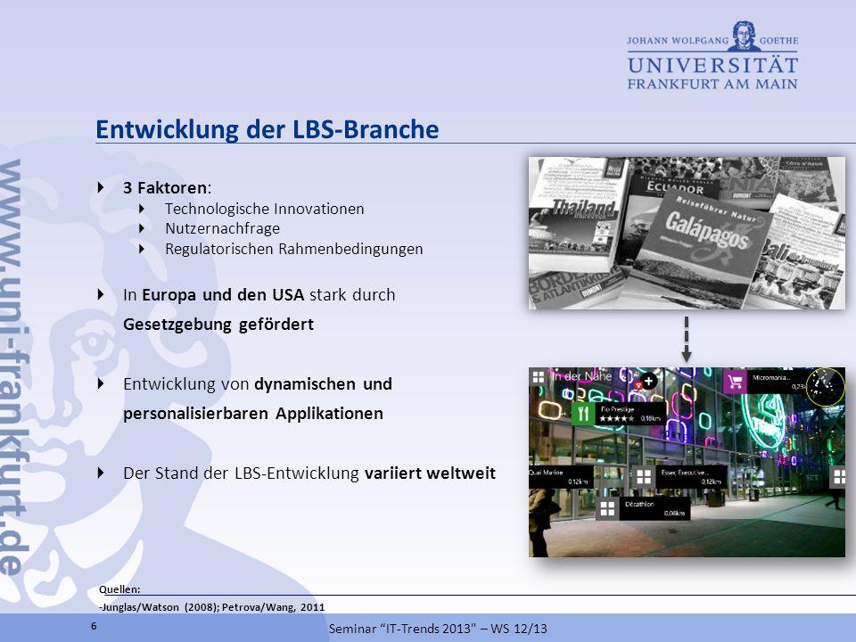 Entwicklung der LBS-Branche