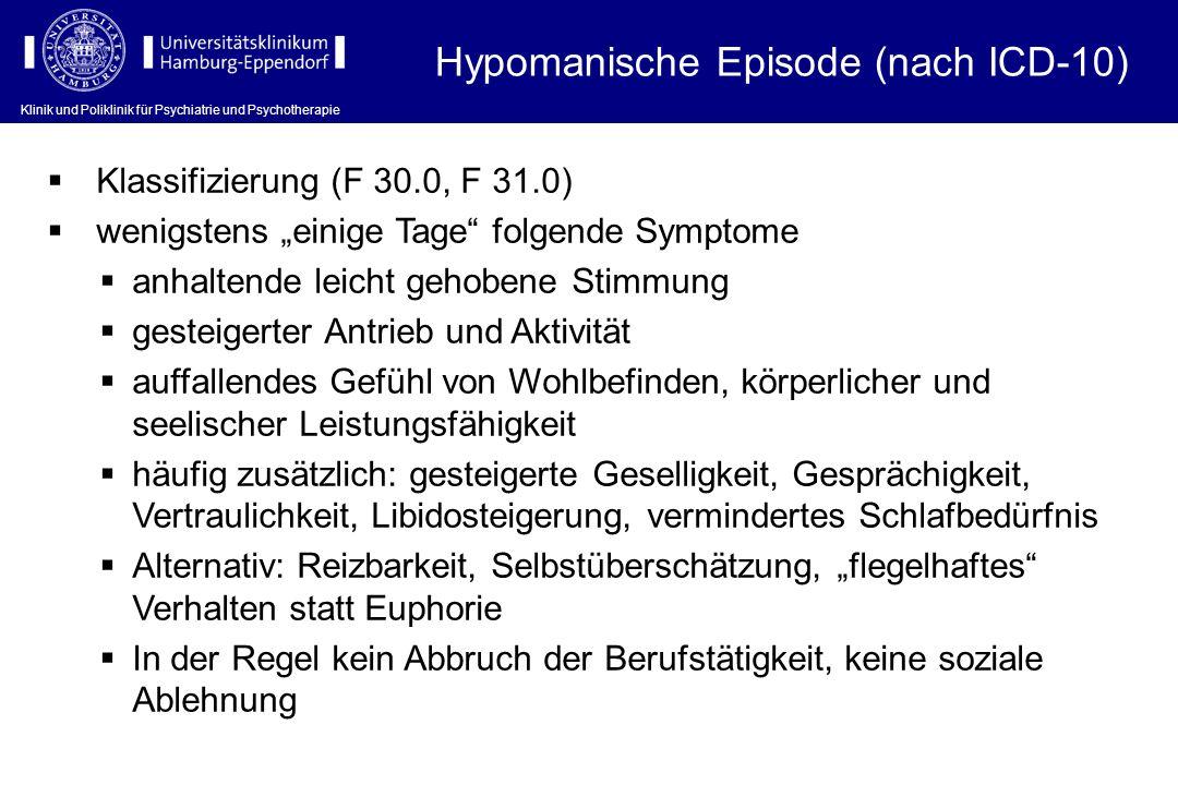 Hypomanische Episode (nach ICD-10)