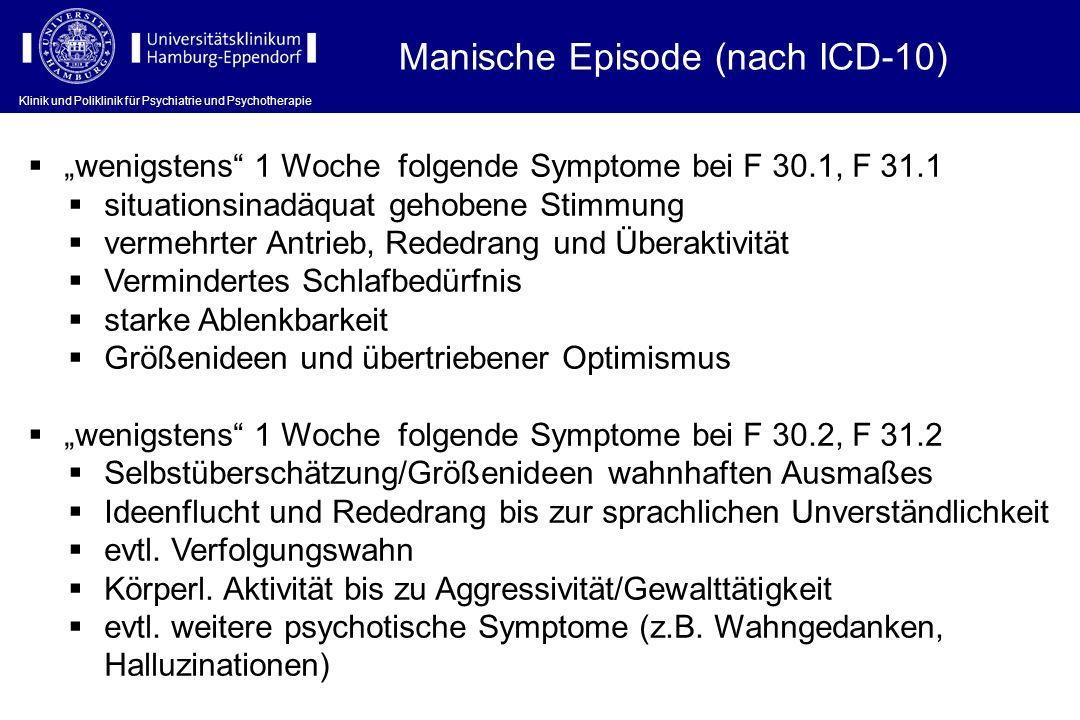 Manische Episode (nach ICD-10)