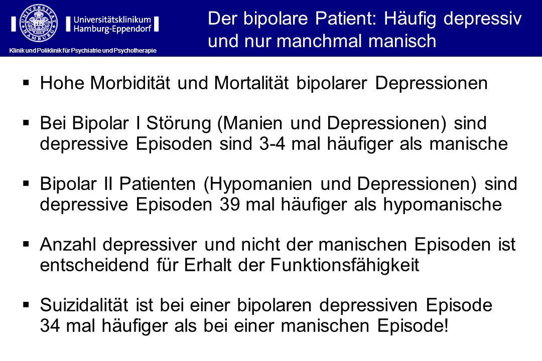 Der bipolare Patient: Häufig depressiv und nur manchmal manisch