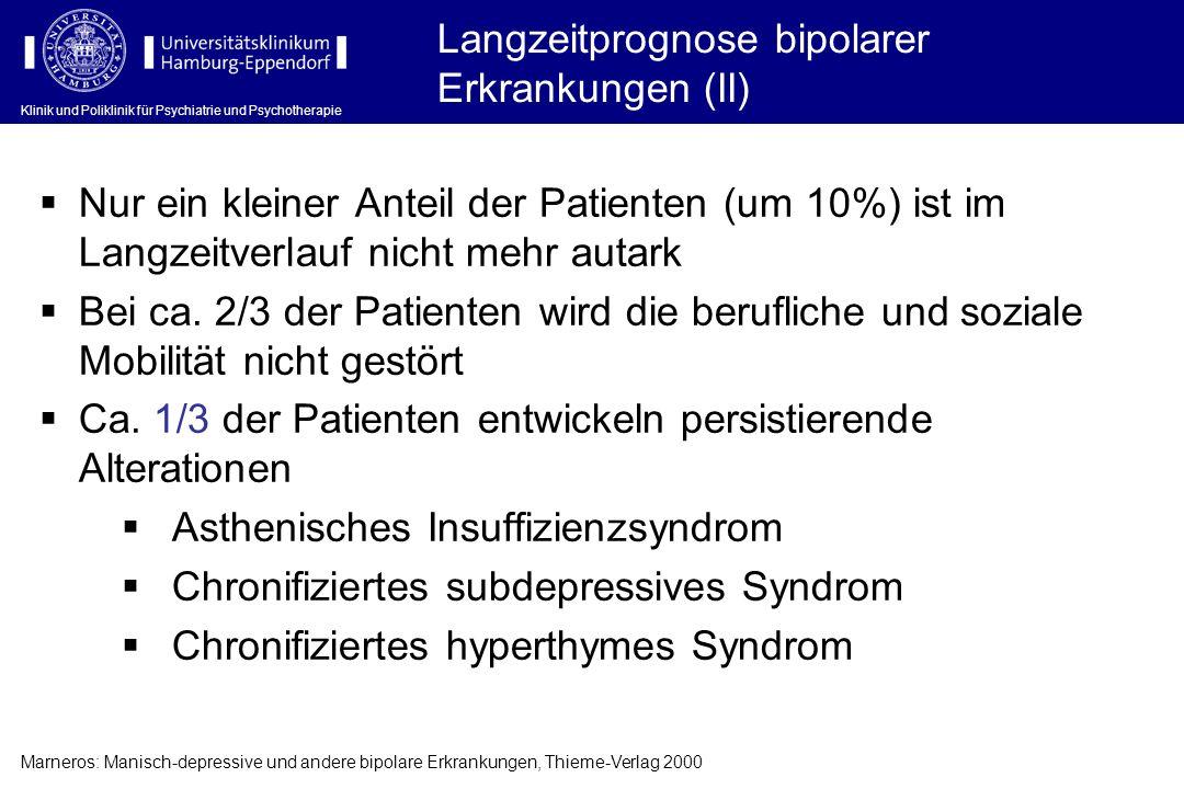 Langzeitprognose bipolarer Erkrankungen (II)