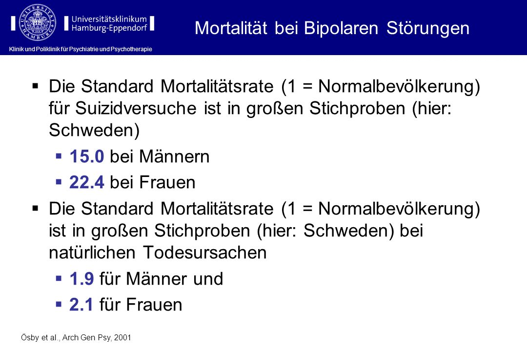 Mortalität bei Bipolaren Störungen
