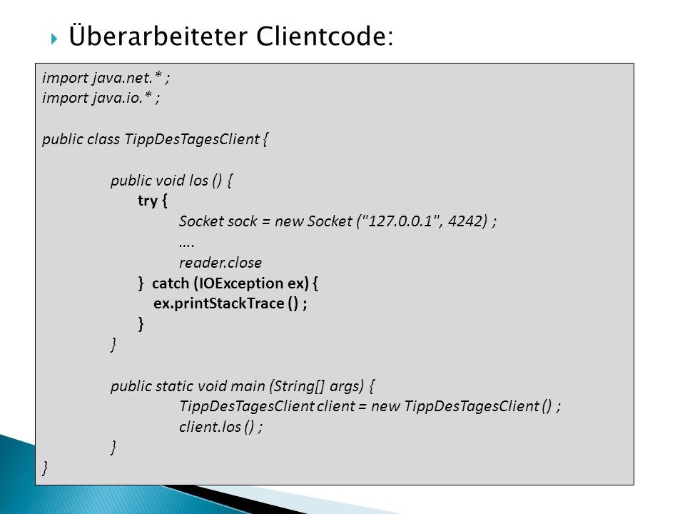 Überarbeiteter Clientcode: