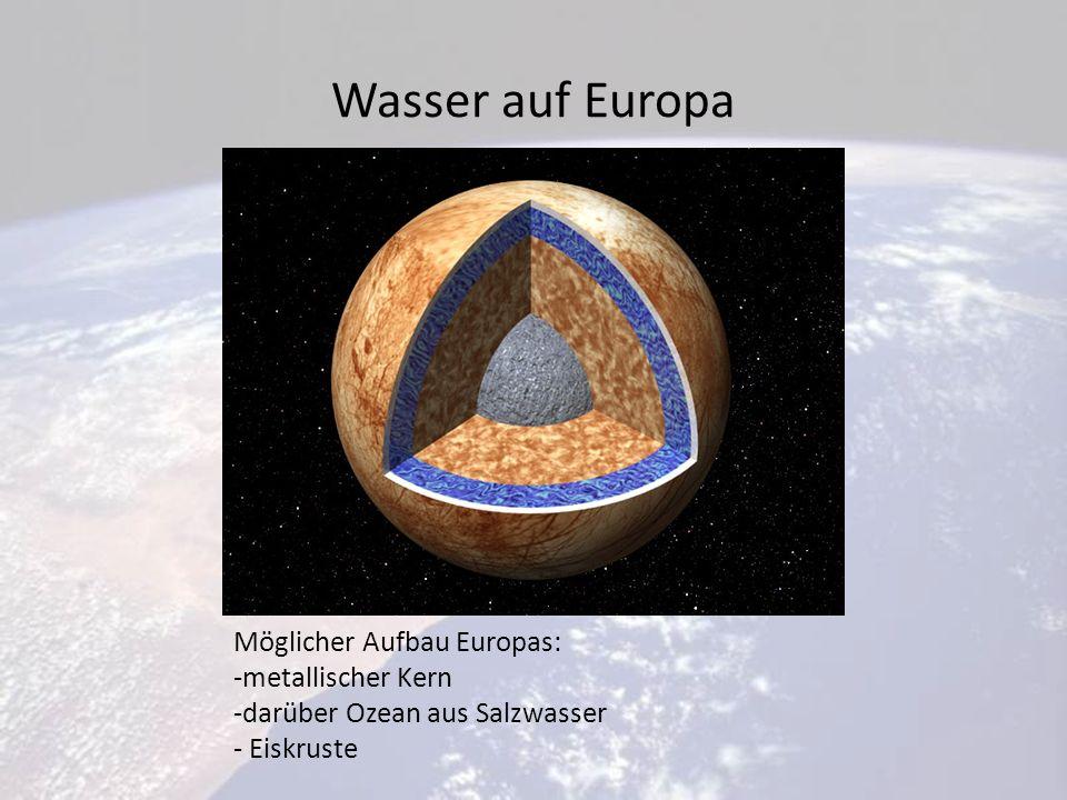 Wasser auf Europa Möglicher Aufbau Europas: metallischer Kern