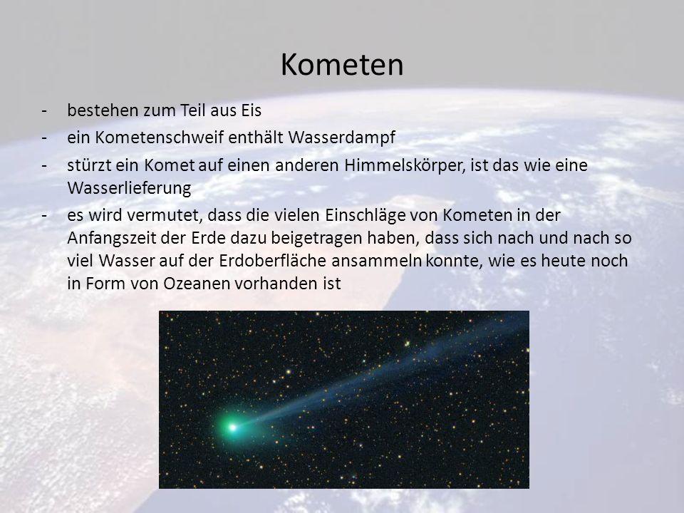 Kometen bestehen zum Teil aus Eis