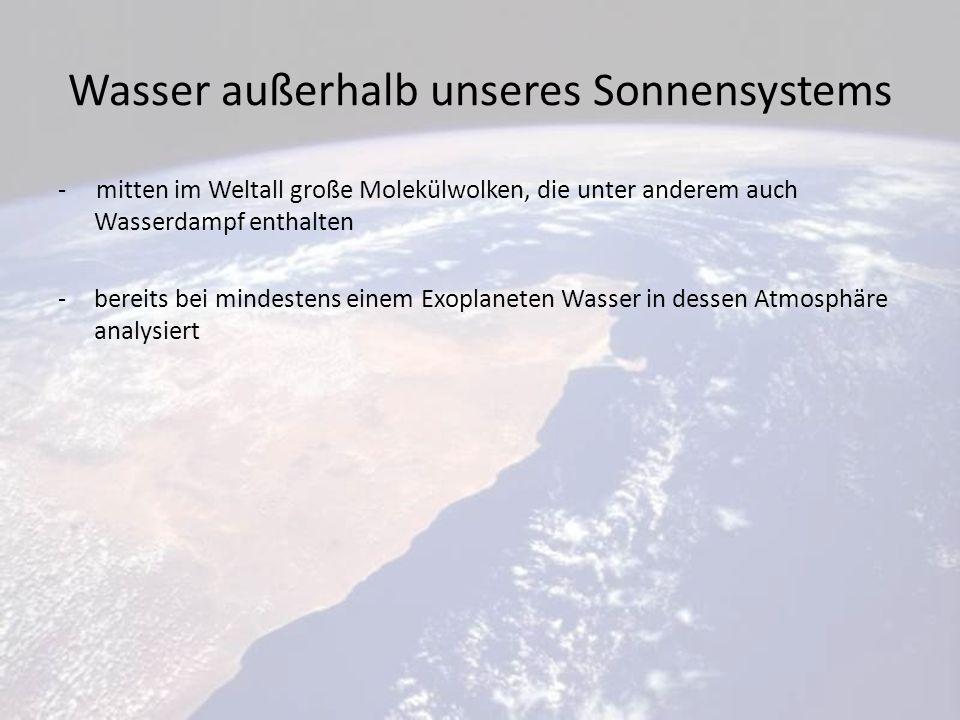 Wasser außerhalb unseres Sonnensystems