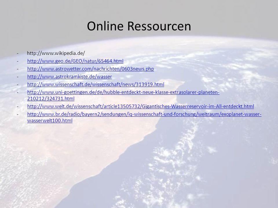 Online Ressourcen - http://www.wikipedia.de/