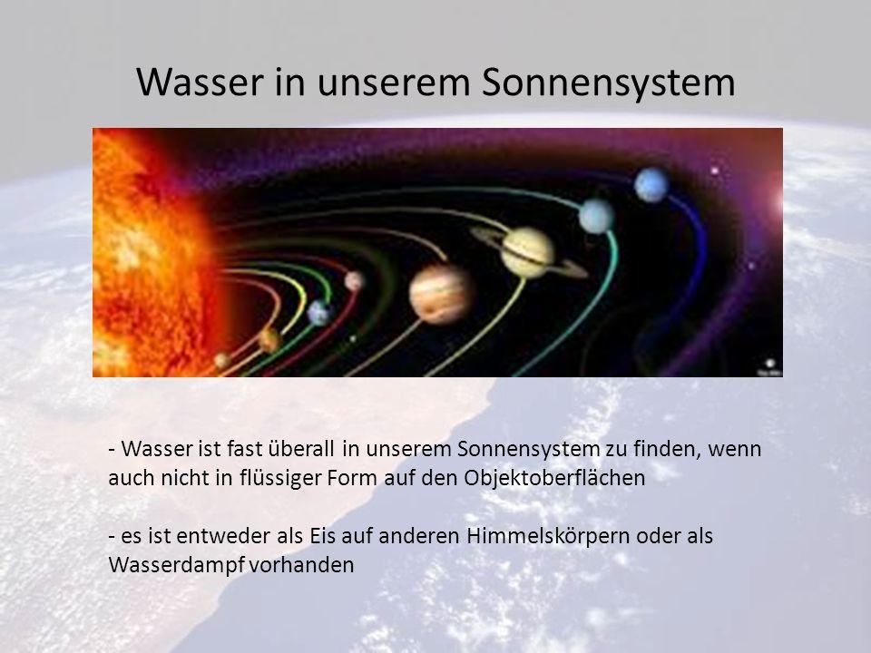 Wasser in unserem Sonnensystem
