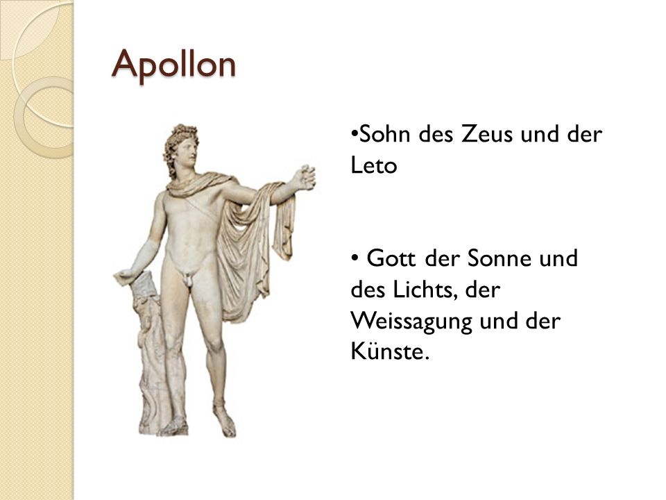 Apollon Sohn des Zeus und der Leto