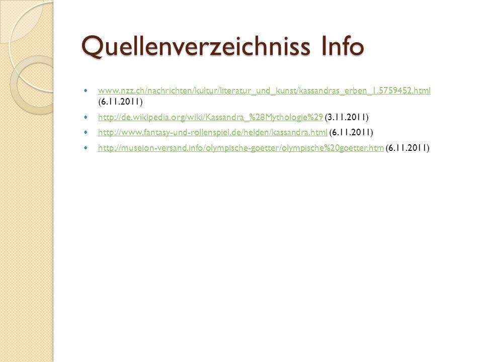 Quellenverzeichniss Info