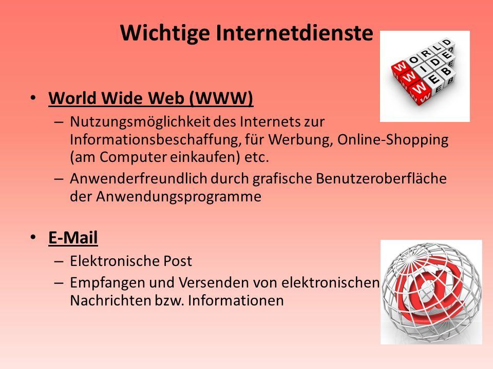 Wichtige Internetdienste