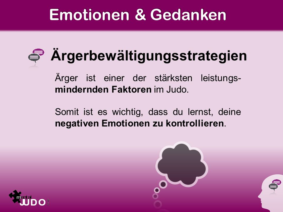 Emotionen & Gedanken Ärgerbewältigungsstrategien