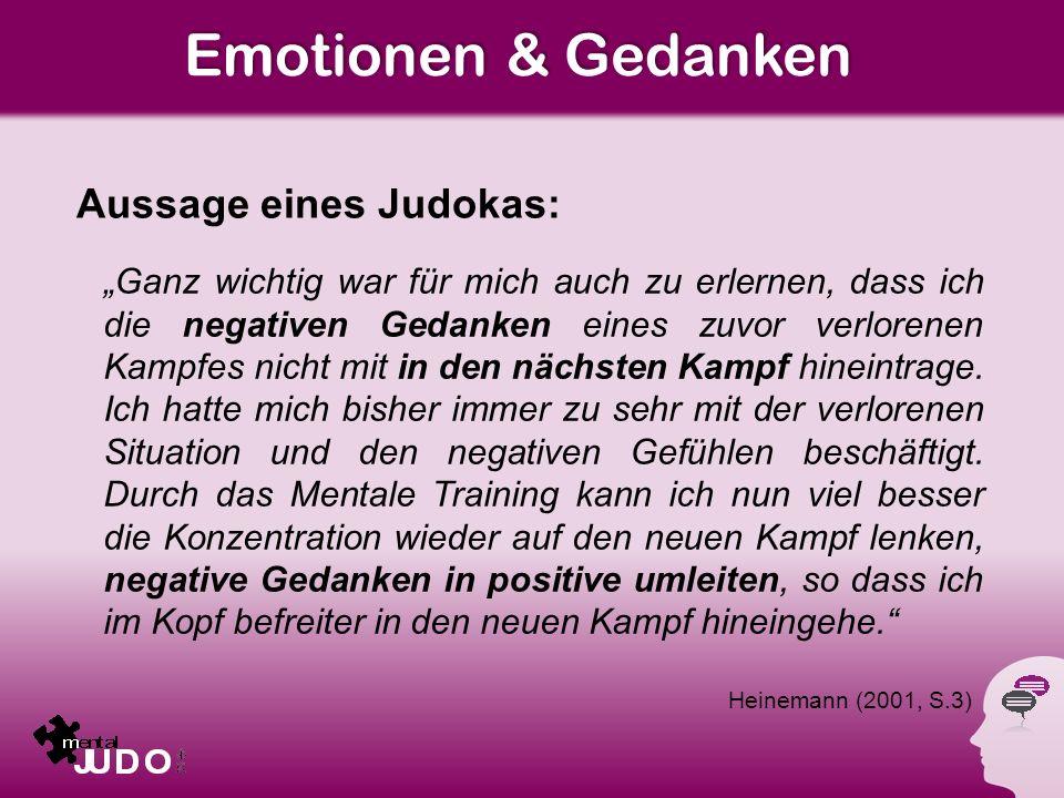 Emotionen & Gedanken Aussage eines Judokas:
