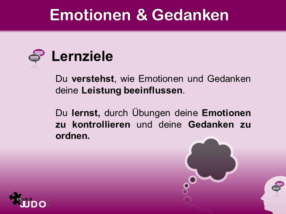 Emotionen & Gedanken Lernziele