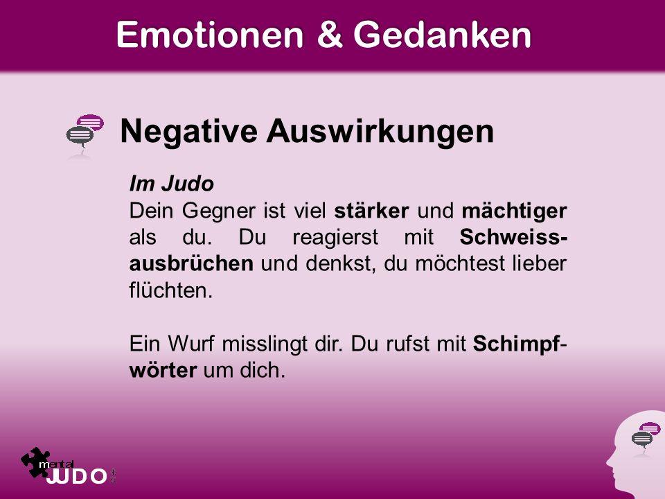 Emotionen & Gedanken Negative Auswirkungen Im Judo