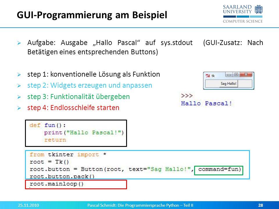 GUI-Programmierung am Beispiel