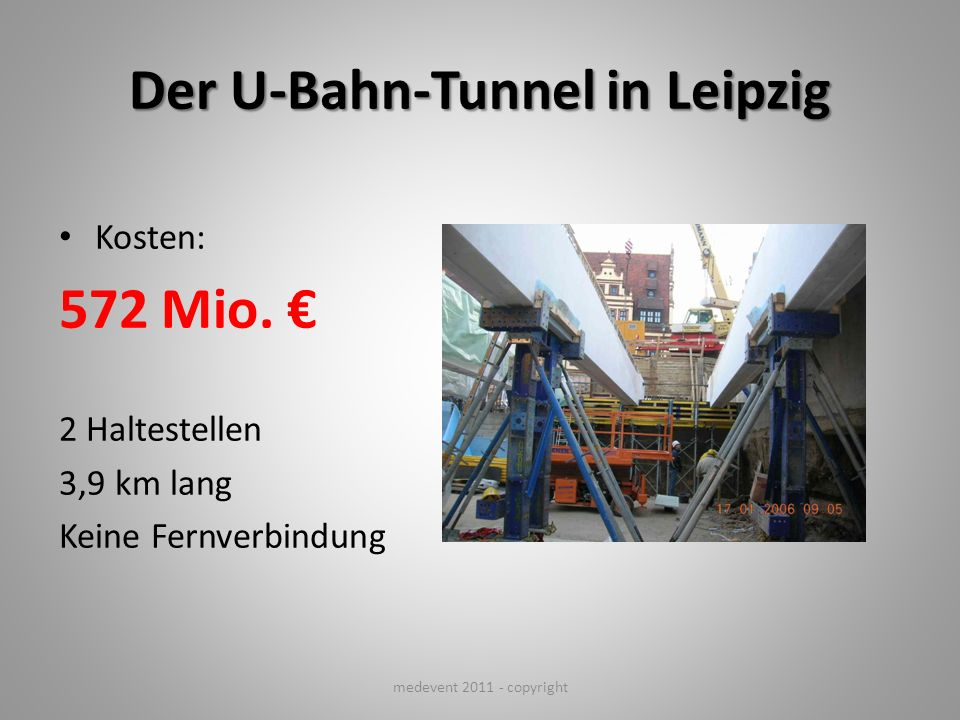 Der U-Bahn-Tunnel in Leipzig