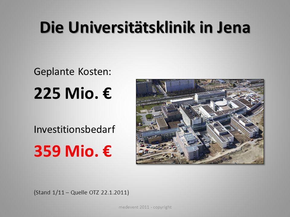 Die Universitätsklinik in Jena