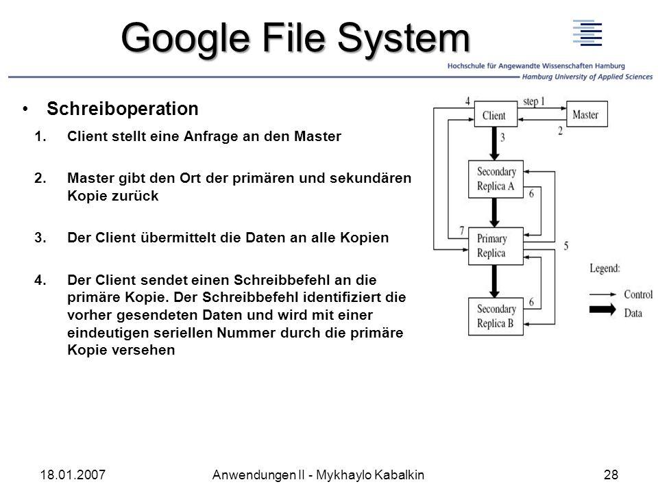 Google File System Schreiboperation