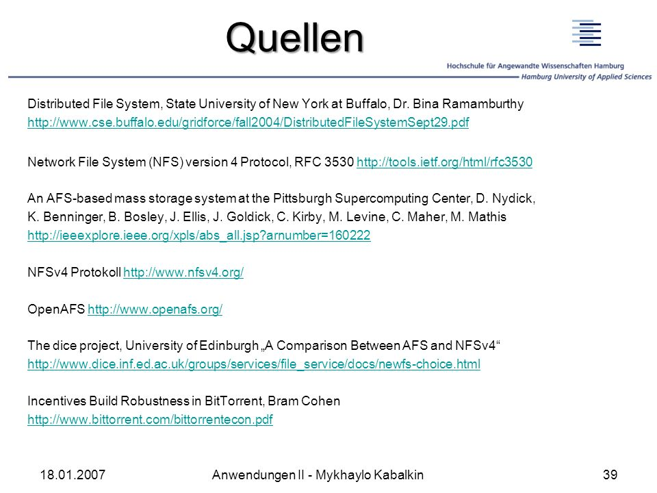 Quellen Distributed File System, State University of New York at Buffalo, Dr. Bina Ramamburthy.