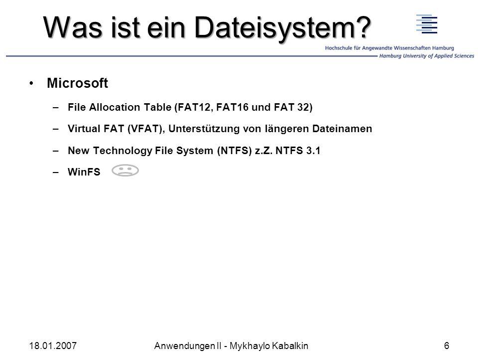 Was ist ein Dateisystem