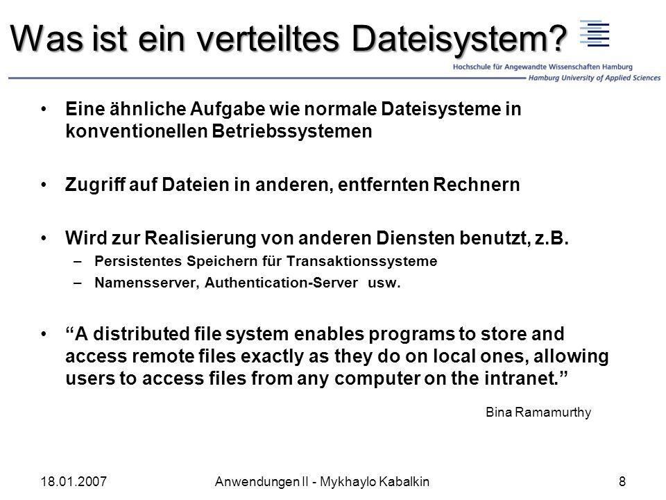 Was ist ein verteiltes Dateisystem