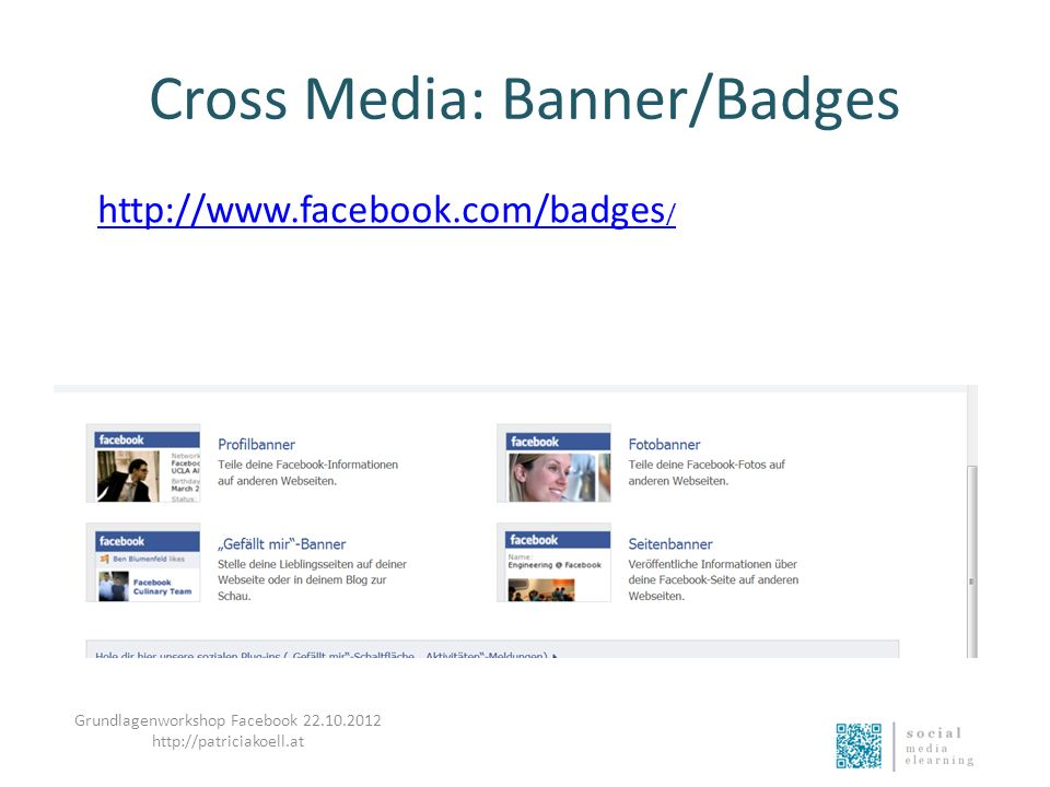 Cross Media: Banner/Badges