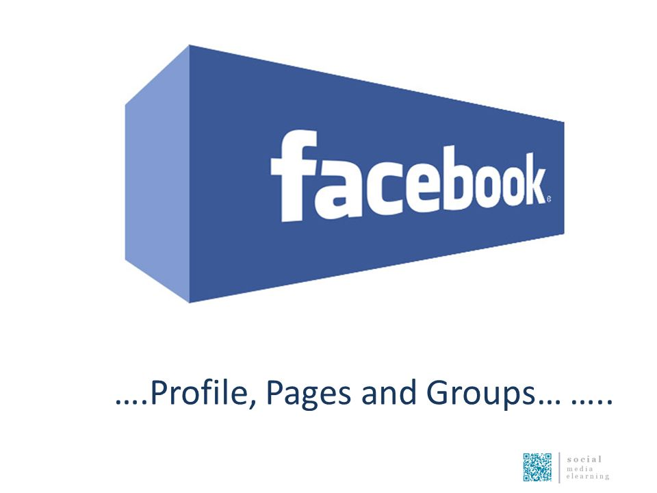 ….Profile, Pages and Groups… …..