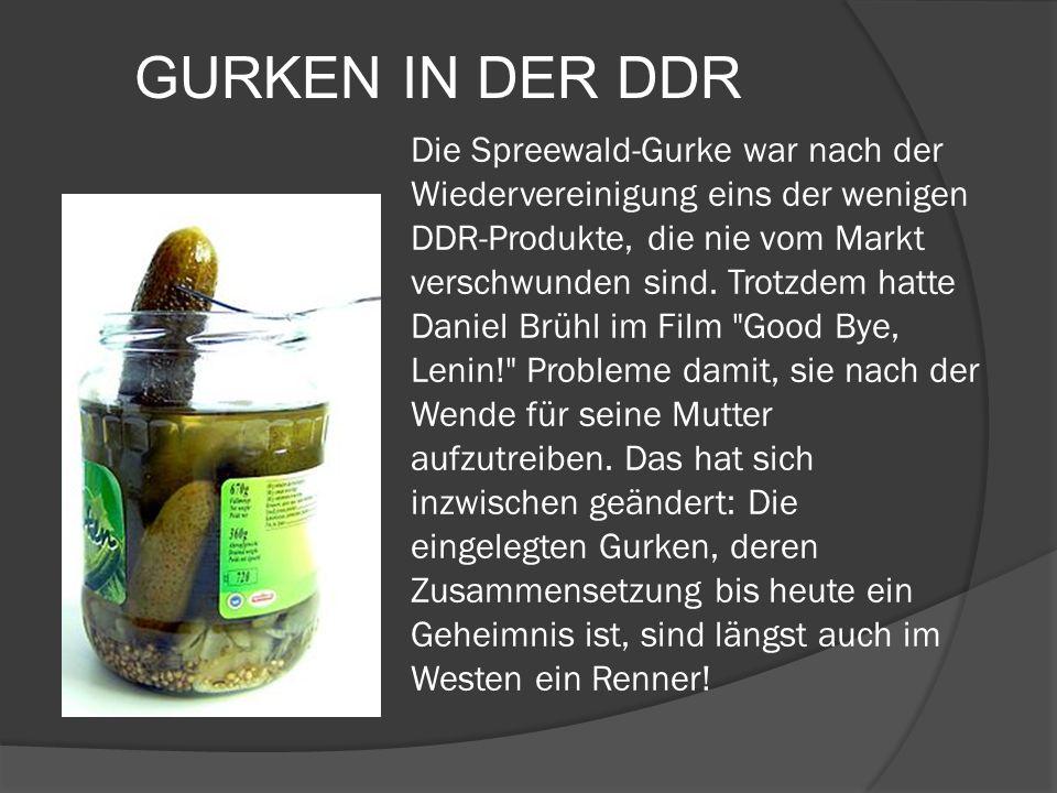 GURKEN IN DER DDR