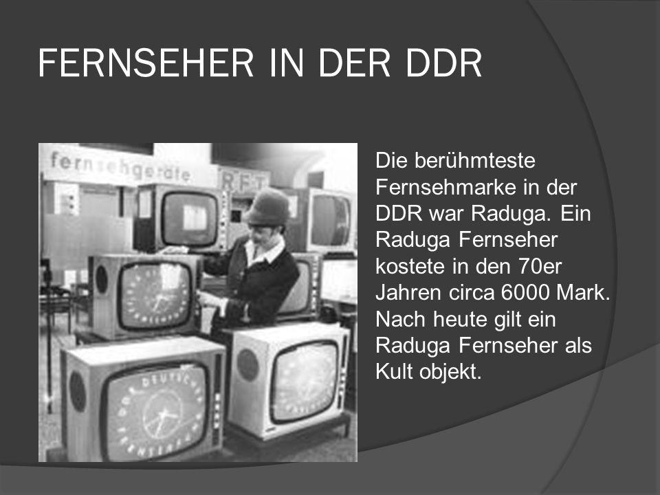 FERNSEHER IN DER DDR