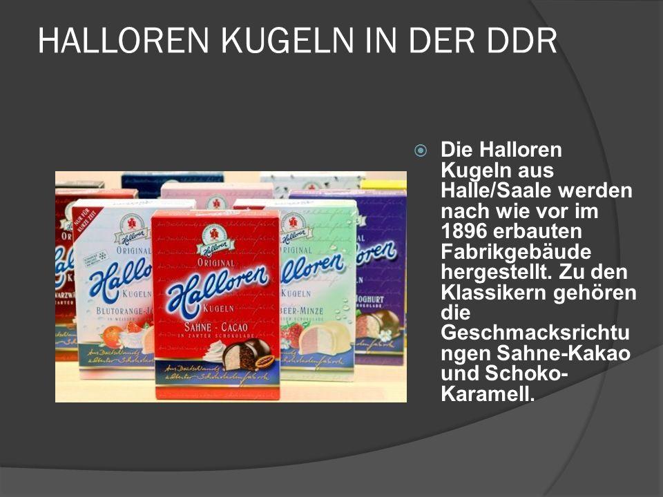 HALLOREN KUGELN IN DER DDR