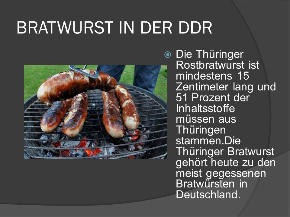 BRATWURST IN DER DDR