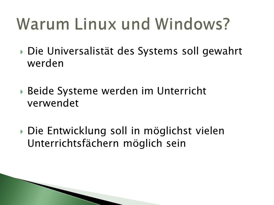 Warum Linux und Windows