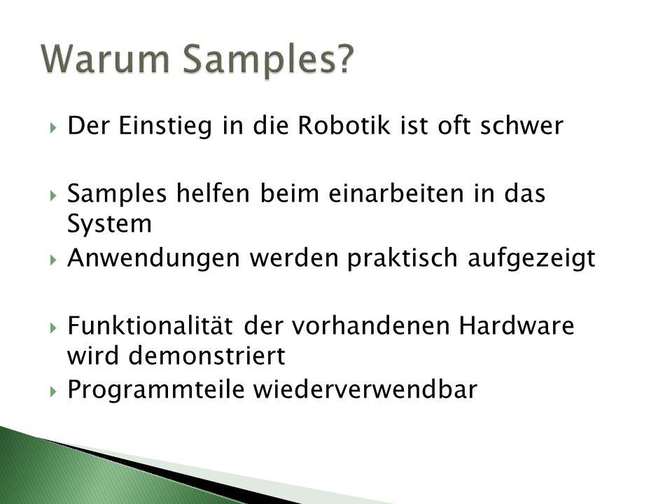 Warum Samples Der Einstieg in die Robotik ist oft schwer