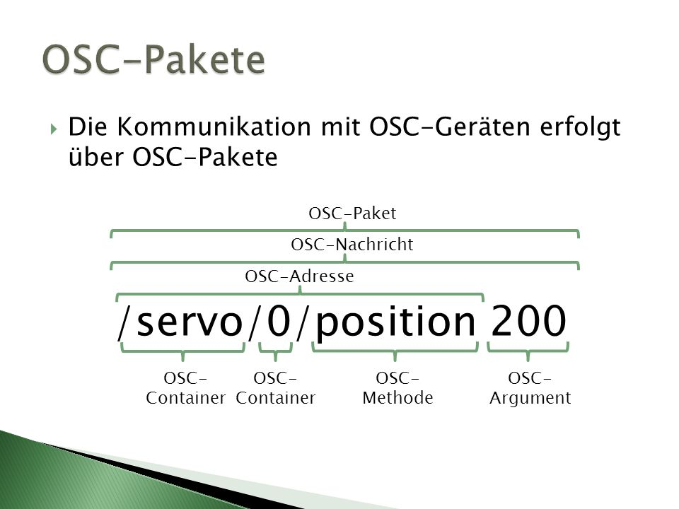 /servo/0/position 200 OSC-Pakete